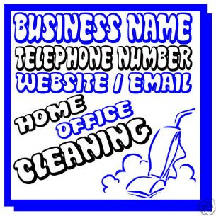 CLEANING CLEANER BUSINESS MAGNETIC SIGN CAR VAN 1 PAIR